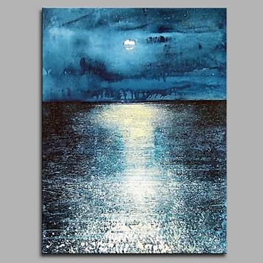 Hang festett olajfestmény Kézzel festett - Absztrakt Absztrakt / Modern / kortárs Vászon / Nyújtott vászon