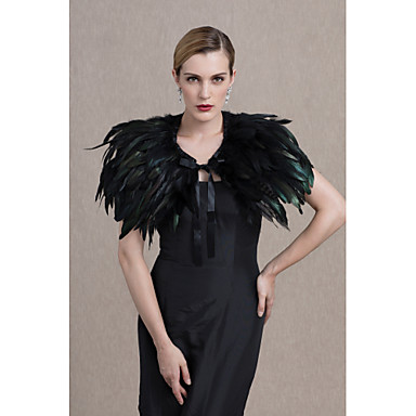 Feather / Fur Wedding / Party / Evening Women's Wrap With Capelets