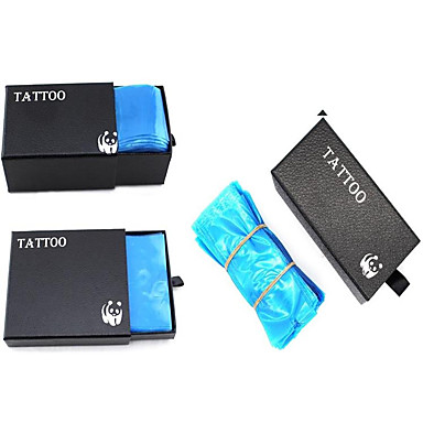 a 100-as és az eldobható gépzsákok doboza, a 200-as doboz és a 400-as tetováló fogantyú
