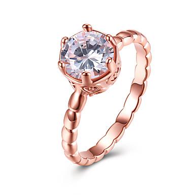 Női Kristály Band Ring / Eljegyzési gyűrű - Cirkonium, Ötvözet minimalista stílusú, Divat 6 / 7 / 8 Arany Kompatibilitás Esküvő / Parti / Halloween