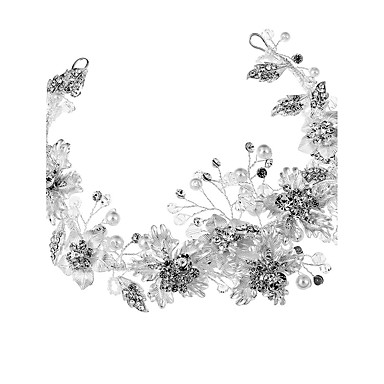Crystal / Rhinestone / Alloy Headbands / Flowers with 1 Wedding / Special Occasion / Birthday Headpiece