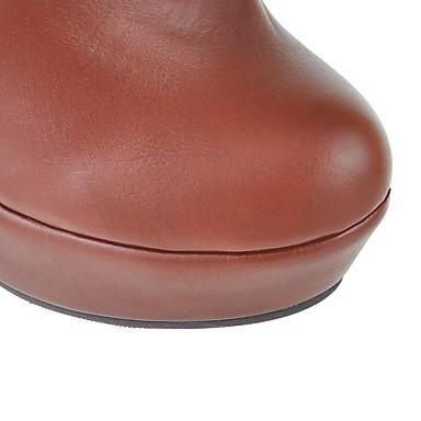la à Hiver Aiguille Cavalières 06232269 Bottes Femme Bottes Bottes Talon Noeud Similicuir Automne Bottes rond Bout Chaussures Plateau Mode nHqWXpgFX