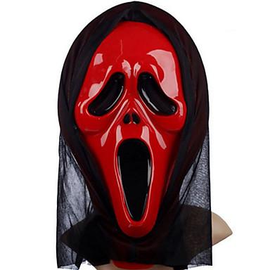 voordelige Maskers voor de feestdagen-Halloweenmaskers Practical joke Gadget Hallloween figuren Carnavalsmaskers Muovi Nieuwigheid Scream-masker Filmpersonage Geest Horrorthema Volwassenen Unisex Jongens Meisjes