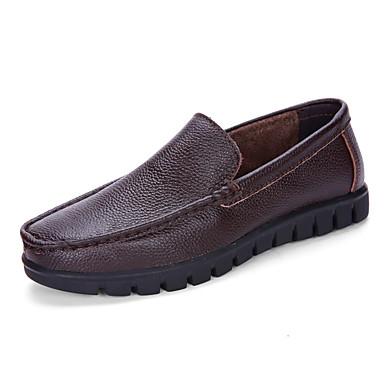 Férfi cipő Bőr / Nappa Leather Tavasz / Ősz Kényelmes Papucsok & Balerinacipők Fekete / Sötétbarna / Party és Estélyi