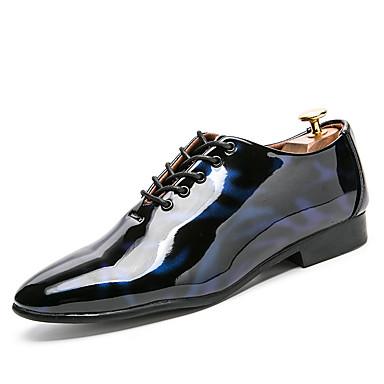 Férfi cipő Bőrutánzat Tavasz / Ősz Kényelmes Félcipők Fekete / Piros / Kék / Party és Estélyi / Újdonság cipők / Oxfords nyomtatása