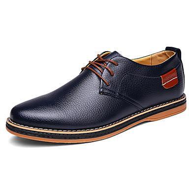 Mujer Zapatos PU Primavera / Otoño Confort Oxfords Blanco / Negro / Marrón pXsHphkn