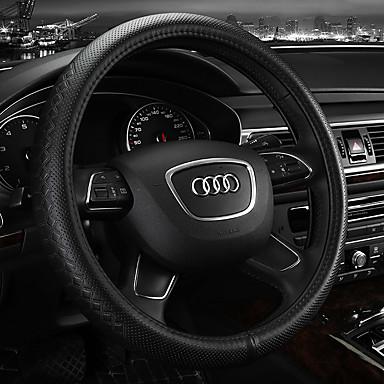 abordables Accessoires Intérieur de Voiture-Protège Volant Cuir 38cm Beige / Gris / Café Pour Audi A4L / Q5 / Q7 Toutes les Années
