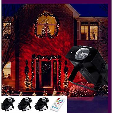 1set 12 W LED projektorok Újratölthető Dekoratív Távvezérlésű Kereskedelmi Szabadtéri Esküvői színhely díszítés Tengerpart Buli Szabadság
