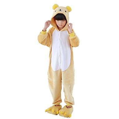 Kid's Kigurumi Pajamas Bear Onesie Pajamas Flannel Fabric Cosplay For Boys and Girls Animal Sleepwear Cartoon Festival / Holiday Costumes