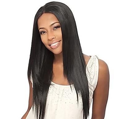 Szintetikus csipke front parókák Egyenes Barna Női Csipke eleje Természetes paróka Hosszú Szintetikus haj