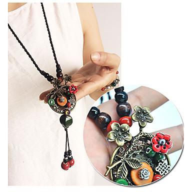 femme pendentif de collier fleur personnalis mode arc en ciel colliers tendance pour cadeau. Black Bedroom Furniture Sets. Home Design Ideas