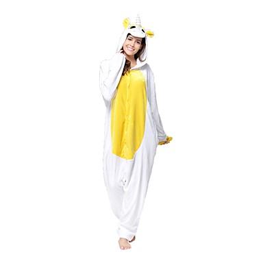 Kigurumi pizsama Unicorn Onesie pizsama Jelmez Flanel Báránybunda Fehér Zöld Sárga Cosplay mert Allati Hálóruházat Rajzfilm Halloween