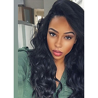 Human Hair Glueless Lace Front Lace Front Wig Brazilian Hair Body Wave Wig 130% Density with Baby Hair Natural Hairline 100% Hand Tied Women's Short Medium Length Long Human Hair Lace Wig
