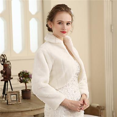 Faux Fur Wedding / Party / Evening Women's Wrap With Fur Shrugs