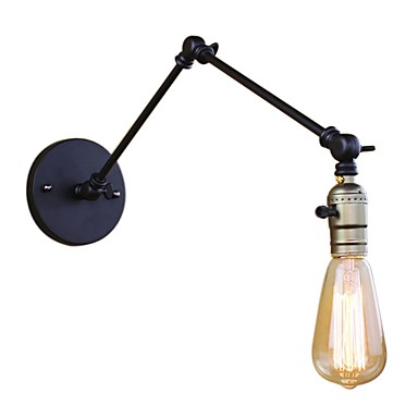 Antique / Simple / Country Swing Arm Lights Metal Wall Light 110-120V / 220-240V 40W