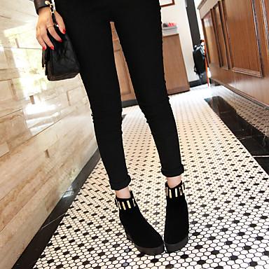 Mode Creepers Bottine Similicuir Bottes Hiver 06234813 la Demi Femme à Noir rond Bottes Fermeture de Chaussures Bout Botte Bottes neige gBqgzWP6