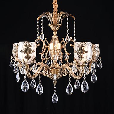 QINGMING® 5-Light Chandelier Uplight Brass Metal Designers 110-120V / 220-240V Bulb Not Included / E12 / E14
