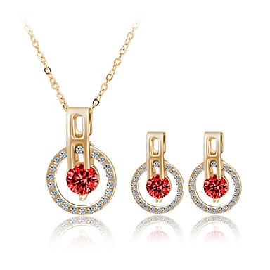 Women's Jewelry Set - Gold Plated Fashion, Cute Include Red For Wedding Party