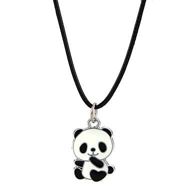 billige Mote Halskjede-Herre Dame Anheng Halskjede Panda Dyr Legering Svart Halskjeder Smykker Til Fest Klubb