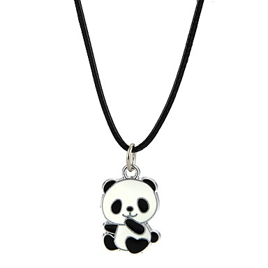 Men's / Women's Pendant Necklace - Panda, Animal Black Necklace For Party, Club