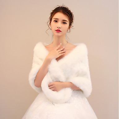 Faux Fur Wedding / Party / Evening Women's Wrap With Capes