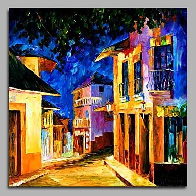 Oil Painting Hand Painted - Landscape Artistic Art Deco / Retro Classic Canvas