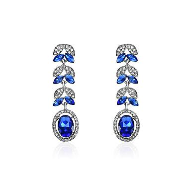 Női Szintetikus gyémánt Strassz Függők - Klasszikus / Divat Kék Geometric Shape Fülbevaló Kompatibilitás Parti / Szabadság