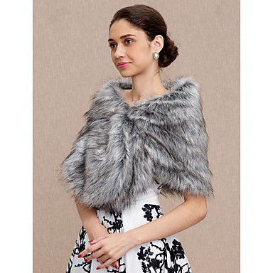 Faux Fur Wedding / Party / Evening Women's Wrap With Shawls