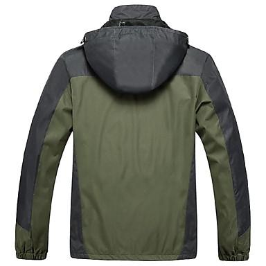 Férfi Planinarska jakna Külső Tél Szélbiztos Vízálló Vízálló cipzár Viselhető Lélegzési képesség Téli kabát Felsők Teljes hosszában