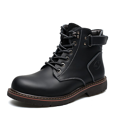 Men's Formal Shoes Leather Fall / Winter Comfort Boots Booties / Ankle Boots Black / Brown