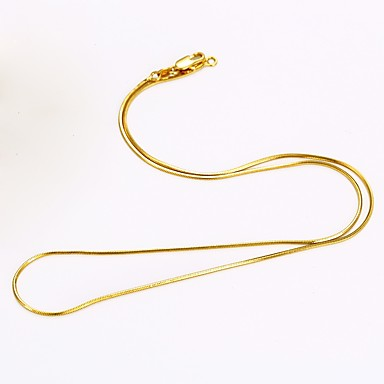Men's / Women's Chain Necklace - Gold Plated Snake Simple Style Gold Necklace For Daily, Casual
