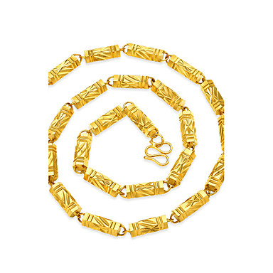 Men's Chain Necklace - Gold Plated Geometric, Hip-Hop Gold Necklace Jewelry For Street, Club