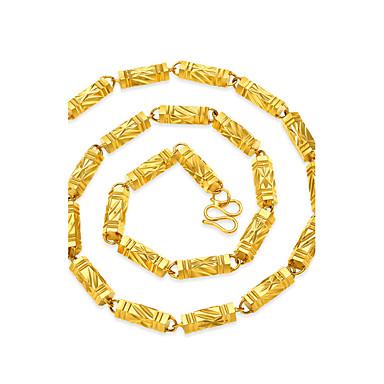 Férfi Nyakláncok - Arannyal bevont Geometrijski oblici, Hip-Hop Arany Nyakláncok Ékszerek Kompatibilitás Utca, Klub
