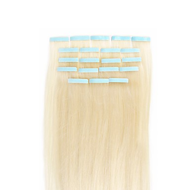 Febay Tape In Human Hair Extensions Straight Human Hair Extensions Human Hair Nano Women's