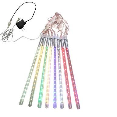 abordables Bandes Lumineuses LED-hkv® 30cm tubes led météore douche pluie lumières glaçon neige goutte de pluie lampe pour adaptateur d'alimentation de Noël étanche