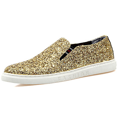 Men's Glitter Fall / Winter Comfort Loafers & Slip-Ons Gold / Black / Silver / Party & Evening