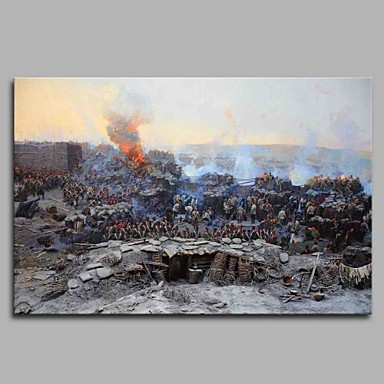 Hang festett olajfestmény Kézzel festett - Híres Modern / kortárs Vászon