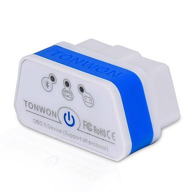 tonwon 2 bt3.0 elm327 obd2 diagnosztikai lapolvasó bluetooth3.0 ellenőrizze autómotor támogatja az összes obdii protokollt androidra