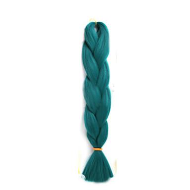 Hår til fletning Box Braids Jumbofletter Syntetisk hår 1 stk / pakke, 3 røtter Hårfletter