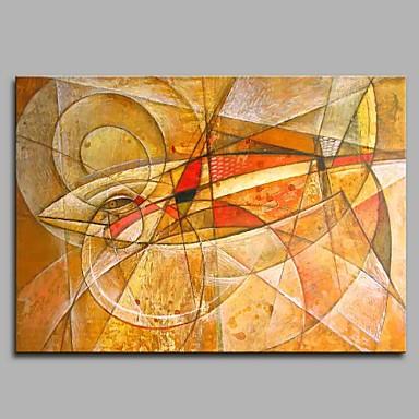 Hang festett olajfestmény Kézzel festett - Állatok Művészi / Modern / kortárs Vászon / Nyújtott vászon