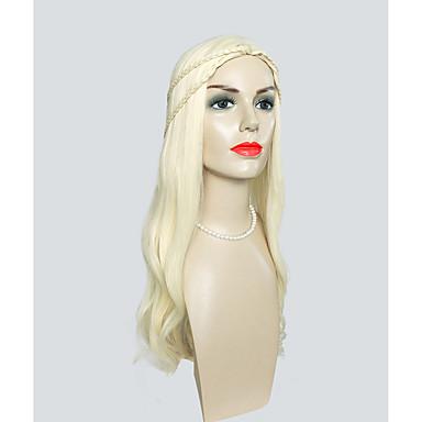 Szintetikus parókák Természetes hullám Réteges frizura Szintetikus haj Szőke Paróka Női Nagyon hosszú Jelmez paróka / Természetes paróka