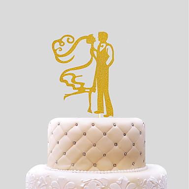 Tortadísz Esküvő Szívek Papír Esküvő val vel 1 PVC táska