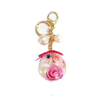 Toy Car / Key Chain Key Chain / Lovely Dried Flower Unisex Kid's Gift