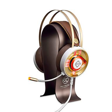 AJAZZ AX360Gold Fejpánt Vezetékes Fejhallgatók Dinamikus Rozsdamentes acél / Műanyag Játszás Fülhallgató A hangerőszabályzóval /