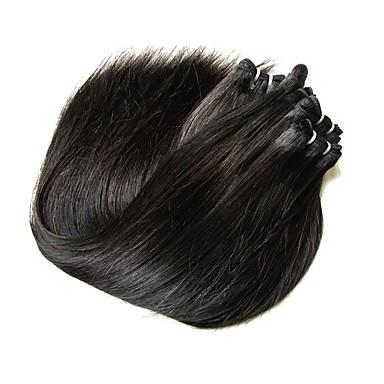Brazilian Hair Straight Human Hair Natural Color Hair Weaves / Hair Bulk Human Hair Weaves Human Hair Extensions