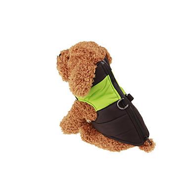 abordables Ropa para Perro-Perro Chaleco Chaquetas de Plumón Ropa para Perro Bloques Verde Azul Rosa Algodón Disfraz Para Primavera & Otoño Invierno Casual / Diario