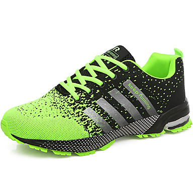 Men's Tulle Summer / Fall Comfort Athletic Shoes Running Shoes Red / Green / Blue
