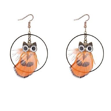 Női Francia kapcsos fülbevalók - Állati Sárga / Piros / Világoszöld Circle Shape Fülbevaló Kompatibilitás Halloween / Alkalmi