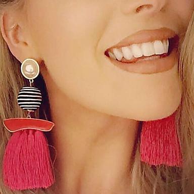 Női Függő fülbevalók Függők - Piros, Rózsaszín, Szivárvány / Bojt