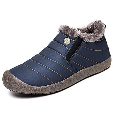 Férfi cipő Bőrutánzat Tavasz Ősz Kényelmes Csizmák Bokacsizmák Cipzár mert Hétköznapi Fekete Sötétkék